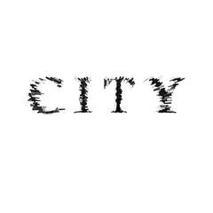 3d text illustration depth effect city