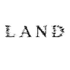 3d text illustration depth effect land