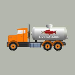Fish tank truck