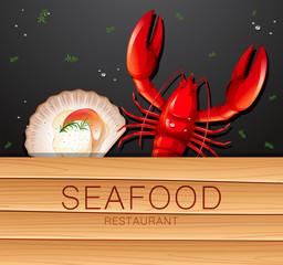A seafood restuarant banner