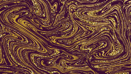 Marble gold texture seamless background.Purple abstract golden luxury pattern.Violet liquid fluid marbling flow effect for cover, fabric, textile, wrapping or print. Seamless pattern, background.