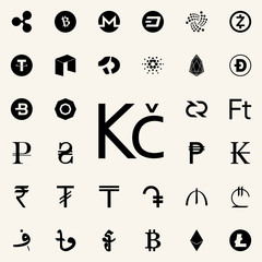crown icon. Crepto currency icons universal set for web and mobile