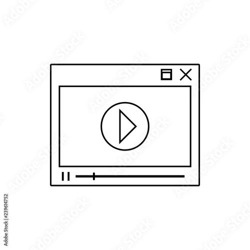 video player icon  Element of Media for mobile concept and
