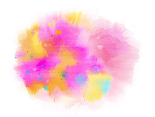 Abstract hand drawn watercolor background. Grunge texture for cards and flyers design. Digital art painting