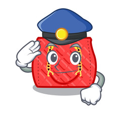 Police quilted bag isolated on a mascot