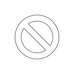 prohibition icon. Element of web for mobile concept and web apps icon. Thin line icon for website design and development, app development