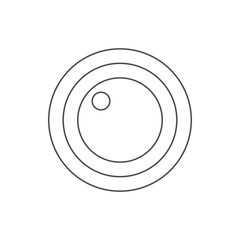 lens icon. Element of web for mobile concept and web apps icon. Thin line icon for website design and development, app development