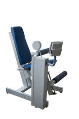 exercise bench in gym isolated in white background
