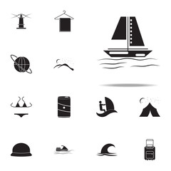 sailing ship icon. summer pleasure icons universal set for web and mobile