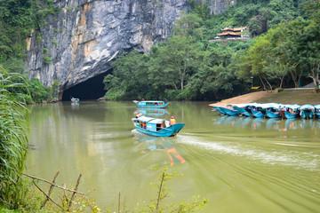 Dong Hoi, Vietnam - Nov 24, 2018 : Paradise cave at Phong Nha-Ke Bang National Park, UNESCO World Heritage Site in Quang Binh Province, Vietnam