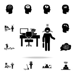 disorder at work icon. Detailed set of chaos element icons. Premium graphic design. One of the collection icons for websites, web design