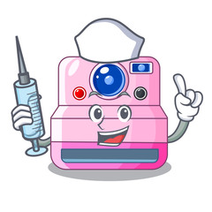 Nurse instant camera with revoke cartoon picture
