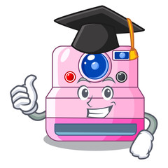 Graduation instant camera with revoke cartoon picture