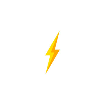 Flash and thunder bolt icon. High voltage and electricity symbol.