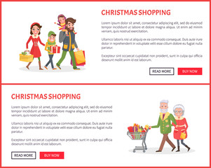 Christmas Shopping Poster, Family and Xmas Gifts