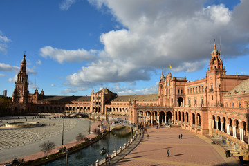 Spain square in Seville is one of the most famous attractions of this city