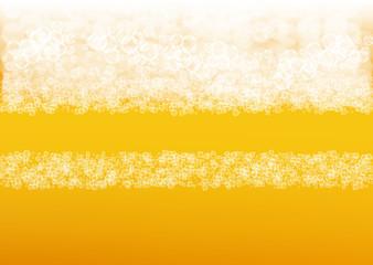 Lager beer. Background with craft splash. Oktoberfest foam.