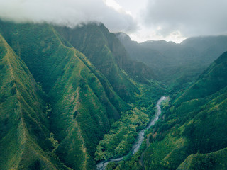 natural volcano structure in the mountains of hawaii