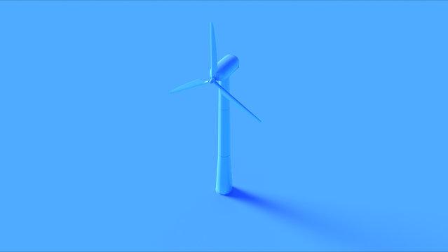 Blue Wind Turbine 3d illustration