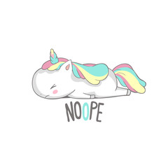 Angry Sad Unicorn Lies Say Nope Poster Design