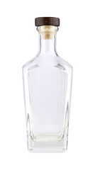Clear Gin Bottle With White Background