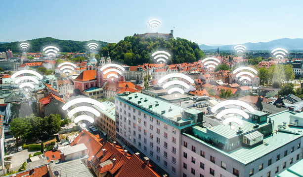 Wi-fi points, concept
