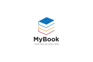 book logo and book icon design template