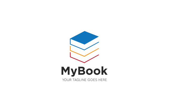 book logo and book icon design template