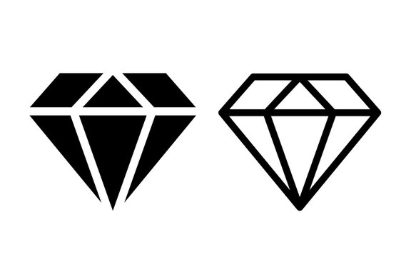Diamond crystal vector icon