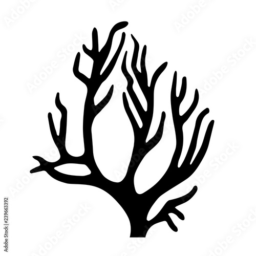 """""""Coral Silhouette Icon"""" Stock Image And Royalty-free"""