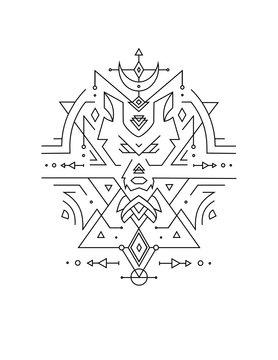 sacred geometry wolf