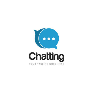 chat logo and icon Vector design Template. Vector Illustrator Eps.10