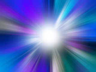 Abstract Colorful Sun Rays Background