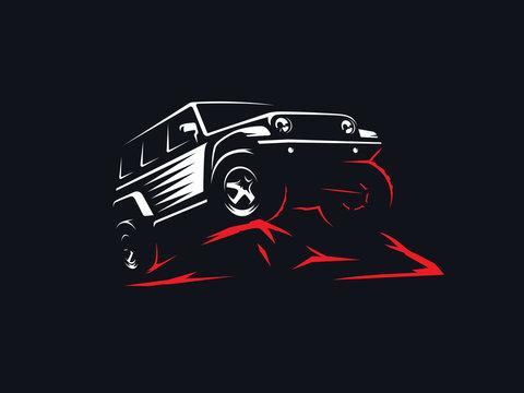 Classic suv off-road illustration.