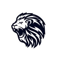 Fototapeta Roaring lion logo template design