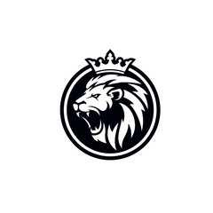 Roaring lion logo template design - Buy this stock vector and