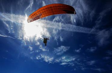 Foto auf AluDibond Luftsport Paragliding on the sky