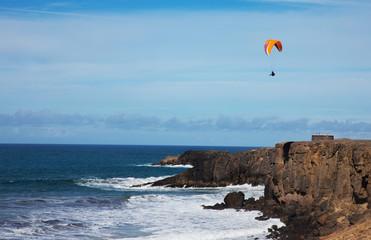 Paragliding on the sky