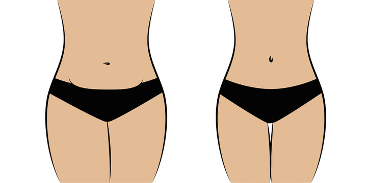 female body thick and slim vector illustration EPS10