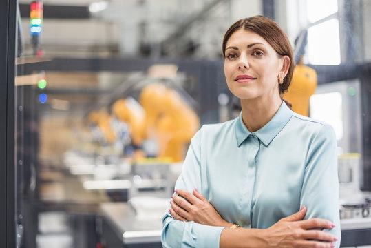 Businesswoman working in high tech company, portrait
