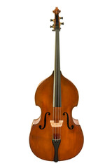 vintage of viola isolated with clipping path.