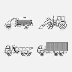 icons transport, transport loading, vtonkih lines