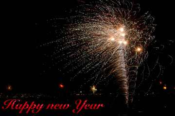 Fireworks in the Night Sky New Year