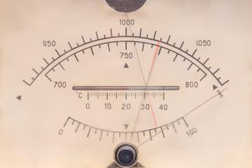 Vintage antique plastic barometer dial