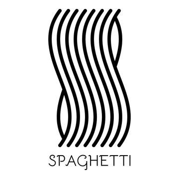 Spaghetti pasta icon. Outline spaghetti pasta vector icon for web design isolated on white background