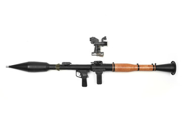 Charged Hand Grenade Launcher with scope