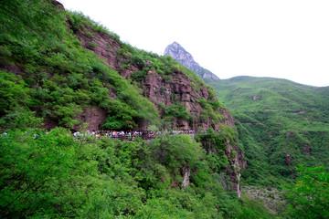 landing stage scenery in yuntai mountain scenic spot, jiaozuo city, henan province, China.