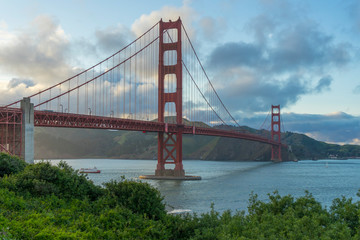 Golden Gate Bridge at evening light, San Francisco