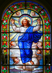 Jesus Christ - Stained Glass in Antibes Church