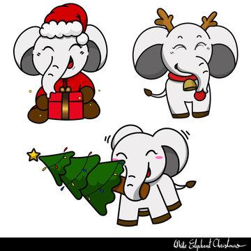 White elephant gift exchange Christmas